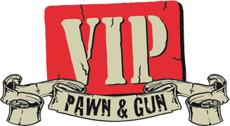 VIP Pawn and Gun Logo